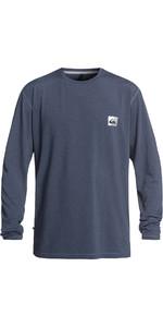 2019 Quiksilver Salty Dogs Langærmet T-Shirt Udslæt Vest Blå Heather EQYWR03148