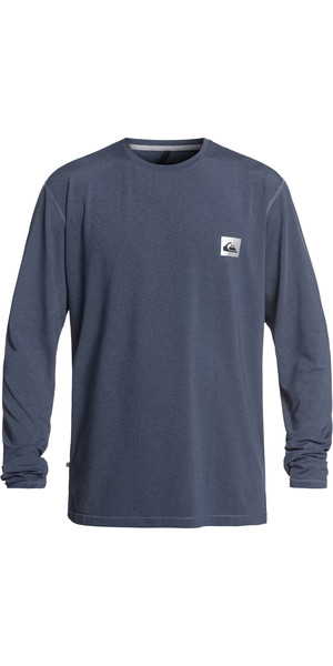 2019 Quiksilver Salty Dogs Langarm-T-Shirt Rash-Weste Blue Heather EQYWR03148