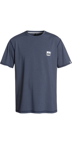2019 Quiksilver Salty Dogs - Kurzärmliges T-Shirt Rash Weste Blue Heather EQYWR03149