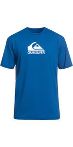 2019 Quiksilver Feste Streifen Quiksilver T-Shirt Fit Hautausschlag Weste Elektrische Blau Eqywr03159