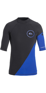 2019 Quiksilver Syncro Series New Wave 1mm Short Sleeve Neoprene Top Graphite / Blue EQYW903003