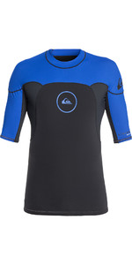 2019 Quiksilver Syncro Series Short Sleeve Rash Vest Graphite / Blue EQYW903004