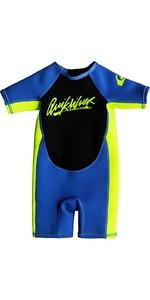 2019 Quiksilver Crianças Syncro 1.5mm Spring Shorty Wetsuit Azul Eqtw503002