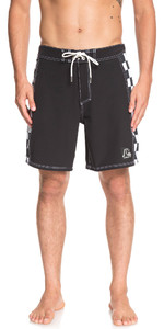 "2019 Quiksilver Highline Checker Boog 18 ""boardshorts Zwart Eqybs04137"