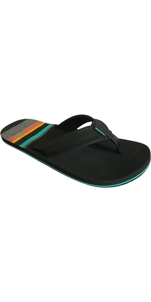 2019 Reef Mens Waters Flip Flops Aqua / Yellow