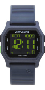 2019 Rip Curl Atom Digital Watch With Silicone Strap Black / Green A2701