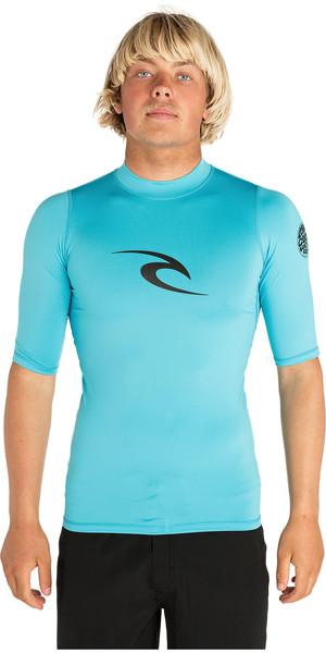 2018 Rip Curl Corpo Kurzarm UV T-Shirt Rash Weste BLUE WLE4KM