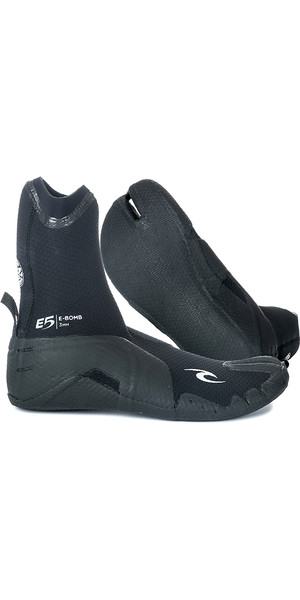 2019 Rip Curl E-Bomb 3mm Split Toe Wetsuit Boots Black WBO7EM