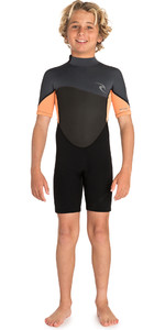 2019 Rip Curl Junior Omega 1.5mm Shorty Anzug Orange Wsp7fb