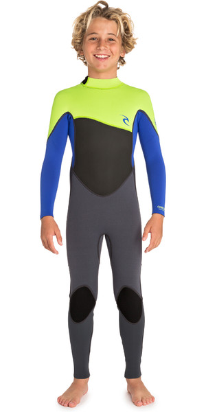 2019 Rip Curl Junior Omega 3/2mm Back Zip Wetsuit Lime WSM9TB