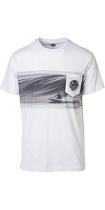 2019 Rip Curl Mens Action Original Surfer T-shirt Optisch Wit CTEDA5