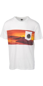 2019 Rip Curl Heren Action Original Surfer T-shirt Wit Cteda5