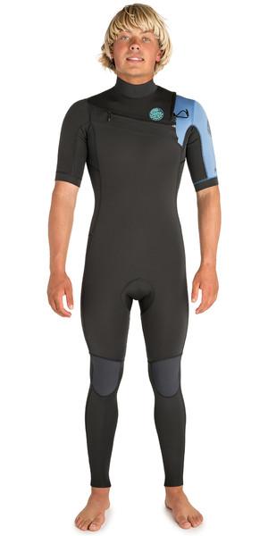 2019 Rip Curl Mens Aggrolite 2mm Short Sleeve Wetsuit Teal WSM9HM
