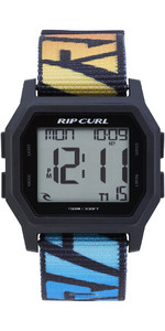 2019 Rip Curl Mens Atom Webbing Strap Digital Watch Faded Blue A3087