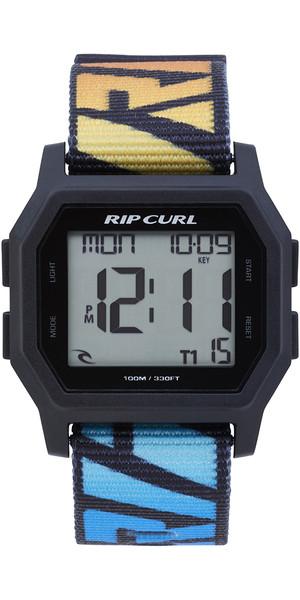 2019 Rip Curl Mens Atom Webbing Strap Digital Watch Blu sbiadito A3087