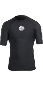 2019 Rip Curl Herren Flash Bomb Polypro Kurzarm Thermal Top Schwarz Wla5bm