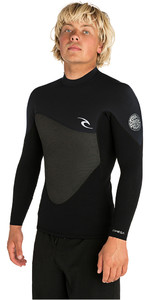 2019 Rip Curl Mens Omega 1.5mm Long Sleeve Neoprene Top Black WVE7EM