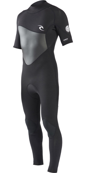 2019 Rip Curl Herre Omega 3 / 2mm Short Sleeve Wetsuit Black WSM8NM