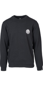 2019 Rip Curl Curl Heren Original Surfer Wetty Crew Jumper Black CFFJ4
