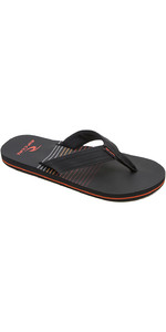2019 Rip Curl Mens Ripper Flip Flops Black / Red TCTAK1