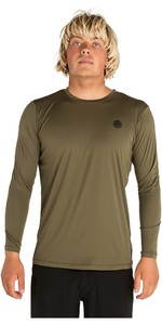 2019 Rip Curl Mens Search Surflite Long Sleeve Rash Vest Military Green WLY7QM