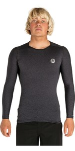 2019 Rip Curl Mens Tech Bomb Long Sleeve Rash Vest Charcoal WLY7JM