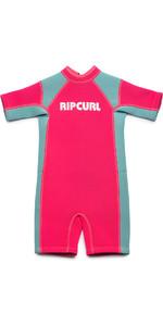 2019 Rip Curl Toddlers Dawn Patrol 1.5mm Spring Shorty Wetsuit Pink WSP7BK
