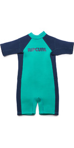 2019 Rip Curl Toddlers Dawn Patrol 1.5mm Spring Shorty Baixinho Wetsuit Turquesa Wsp7bk