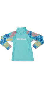 2019 Rip Curl Toddlers Mini Anak Long Sleeve UV50 Rash Vest Blue WLE9JF