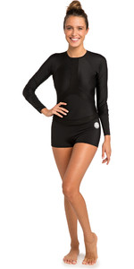 2019 Rip Curl Womens Boyleg Long Sleeve UV Surf Suit Black WLY6KW
