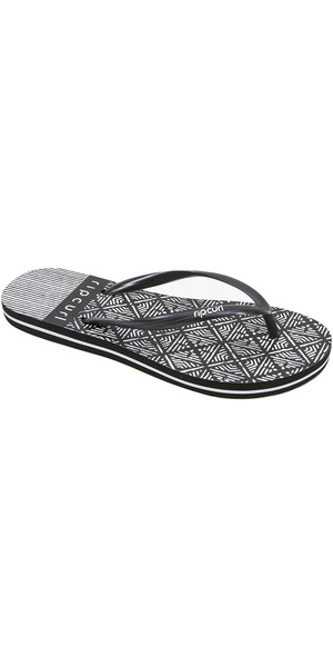 2019 Rip Curl Womens Coast To Coast Flip Flops Black / White TGTE51