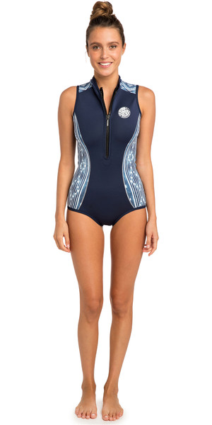 2019 Rip Curl Womens G-Bomb 1mm Sleeveless Shorty Wetsuit Blue / White WSP7MW