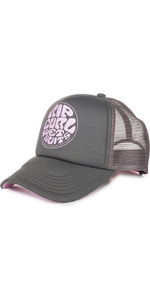 2019 Rip Curl Dames Wetty Logo Trucker Cap Nine Iron GCADD1
