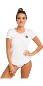 2019 Rip Curl Womens White Wash Loose Fit Rash Vest White WLU9QW