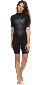 2020 Roxy Womens 2mm Prologue Spring Shorty Wetsuit Black ERJW503010
