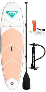"2019 Roxy Euroglass Hanalei 9'6 ""gommone Sup Board Paddle Inc Paddle, Pump, Leash & Bag Eglishan19"