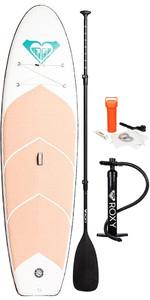 "2019 Roxy Euroglass Molokai Yoga 10'6 ""inflável Sup Board Inc Remo, Bomba, Coleira E Saco Eglismyoga"