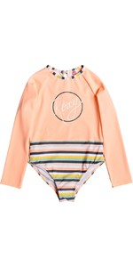 2019 Roxy Girls Lets Go Surfing One Piece Swim Suit Salmon Candy ERLWR03109