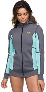 2019 Roxy Womens Syncro Paddle Jacket Deep Grey / Glacier Blue ERJW803013