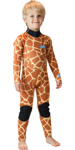 2020 Saltskin Junior 3/2mm Back Zip Neoprenanzug - Giraffe