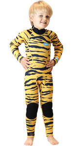 2020 Saltskin Junior 3/2mm Back Zip Combinaison - Tigre
