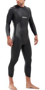2020 2xu Heren P: 1 Propel Triatlon Wetsuit Mw4991c - Zwart / Zilver Schaduw