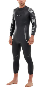 2021 2XU Mens P:2 Propel Triathlon Wetsuit MW4990C - Black / Textural Geo