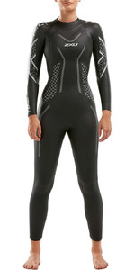 2021 2XU Womens P:2 Propel Triathlon Wetsuit WW4993C - Black / Textural Geo