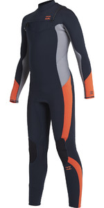 2020 Billabong Junior Boys Absolute 5/4mm Chest Zip Nipsuit U45b13 - Navy