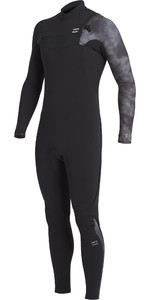 2021 Billabong Mens Furnace Comp 4/3mm Chest Zip Wetsuit U44M52 - Black Tie Dye