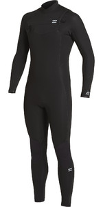 2020 Billabong Mannen Furnace Comping 4/3mm Zipperless Wetsuit U44m54 - Zwart