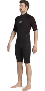 2021 Billabong Herren Intruder 2mm Back Zip Shorty Neoprenanzug 042m19 - Schwarz