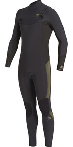 2020 Traje De Neopreno Con Chest Zip Billabong Revolution 4/3mm Hombre U44m56 - Negro Antiguo