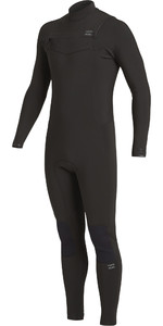 2020 Traje De Neopreno Con Chest Zip Billabong Revolution 4/3mm Hombre U44m56 - Negro